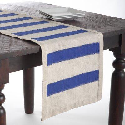 Kimpel Banded Table Runner Color: Cobalt Blue