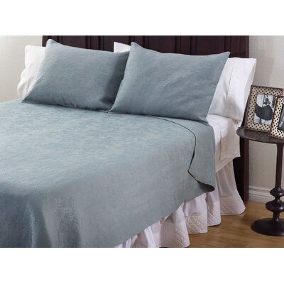 3 Piece Coverlet Set Color: Sea Green, Size: Queen