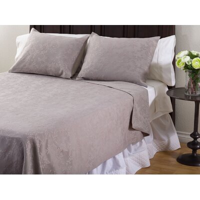 3 Piece Coverlet Set Color: Taupe, Size: Queen