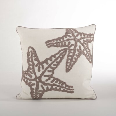 Sur La Mer Natural Starfish Cotton Throw Pillow