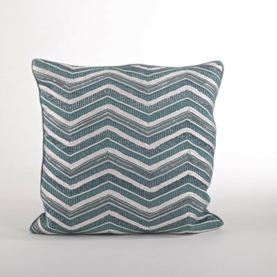 Bellissima Sea Green Zigzag Cotton Throw Pillow