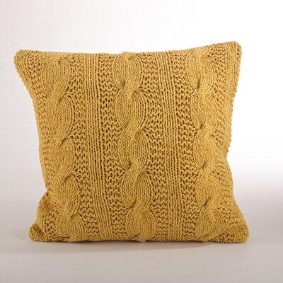Cable Knit Cotton Throw Pillow Color: Saffron