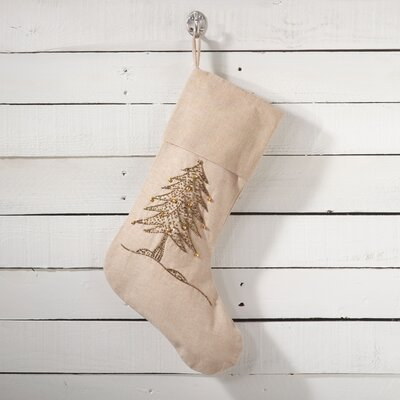 Sapin De Noel Christmas Tree Stocking Color: Gold