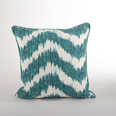 Serpentine Printed Wavy Cotton Throw Pillow Color: Sea Green