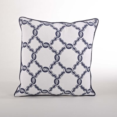 Nantucket Chain Link Cotton Throw Pillow Color: Navy Blue