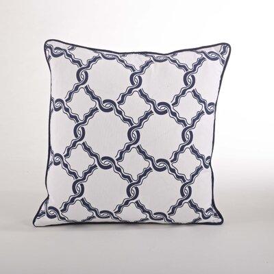 Nantucket Chain Link Cotton Throw Pillow Color: Navy Blue