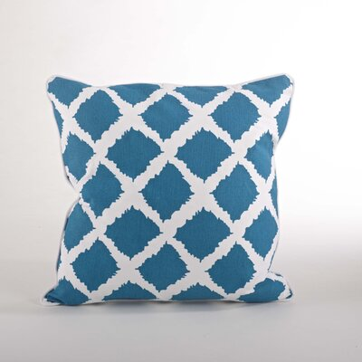Corsica Ikat Cotton Throw Pillow Color: Ocean Blue