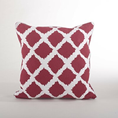 Corsica Ikat Cotton Throw Pillow Color: Rouge