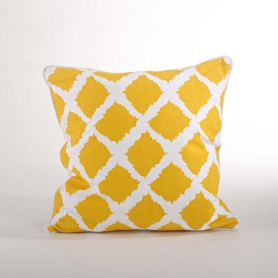Corsica Ikat Cotton Throw Pillow Color: Saffron