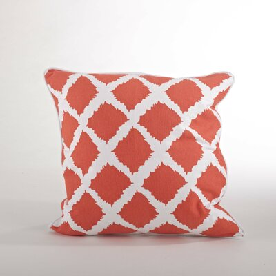 Corsica Ikat Cotton Throw Pillow Color: Tangerine