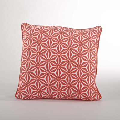 Andalusia Tile Cotton Throw Pillow Color: Tangerine