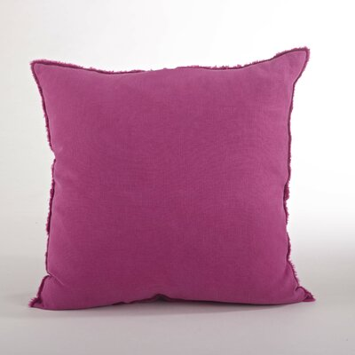 Graciella Fringed Linen Throw Pillow Color: Fuchsia