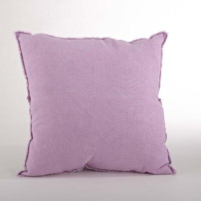 Graciella Fringed Linen Throw Pillow Color: Lavender