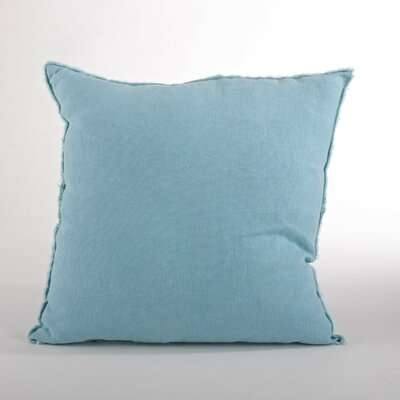 Graciella Fringed Linen Throw Pillow Color: Ocean Blue