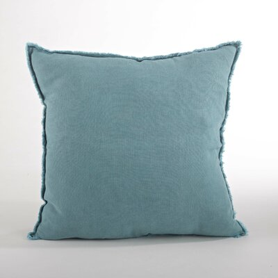 Graciella Fringed Linen Throw Pillow Color: Sea Green