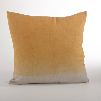 Maratea Linen Throw Pillow Color: Marigold