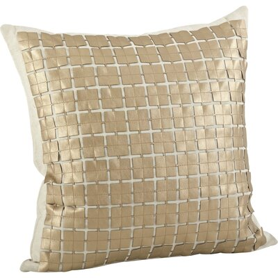 Lissandra Cutwork Cotton Throw Pillow Color: Gold