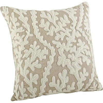 Tara Dori Embroidered Cotton Throw Pillow