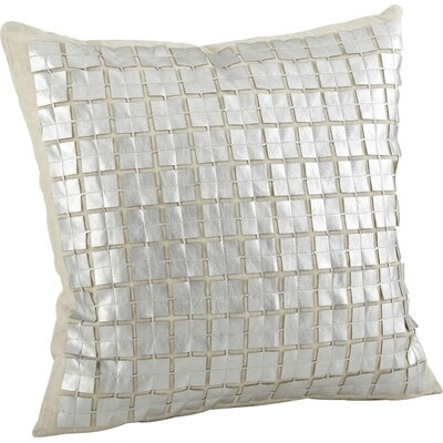 Lissandra Cutwork Cotton Throw Pillow Color: Silver