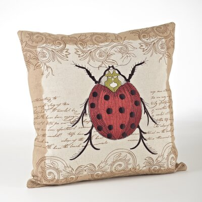 Whimsey Ladybug Throw Pillow