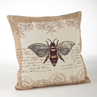 Whimsey Honey Bee Throw Pillow