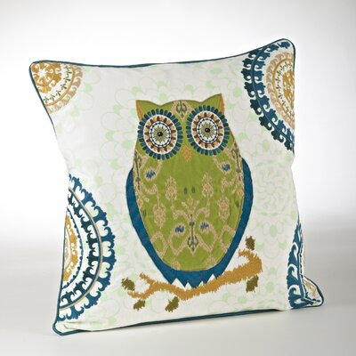 Embroidered Cotton Throw Pillow Color: Chartreuse