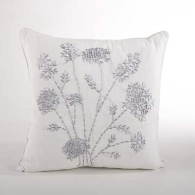 Jardin Des Tuileries Throw Pillow Color: Ivory