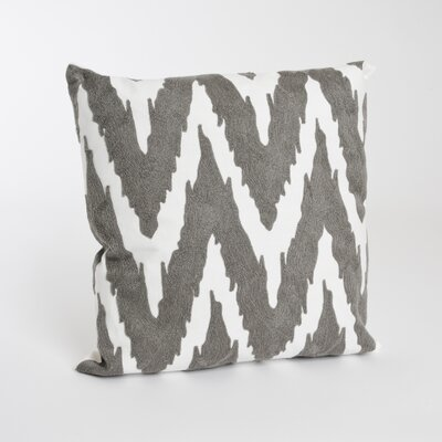 Brasileiro 100% Cotton Throw Pillow Color: Gray