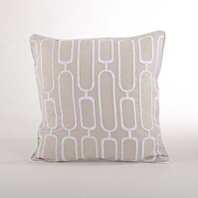 Modernica Stitched Design Down Filled Throw Pillow Color: Natural