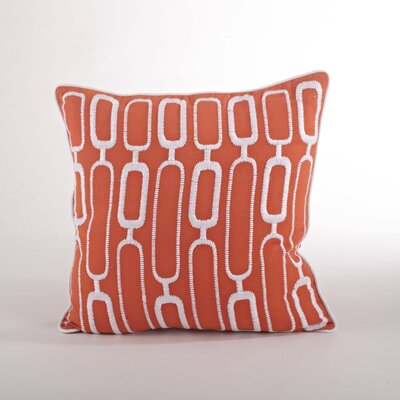 Modernica Stitched Design Down Filled Throw Pillow Color: Tangerine