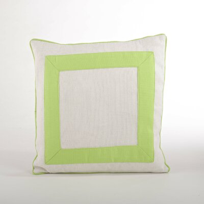 Crete Banded Design Down Filled Throw Pillow Color: Lime