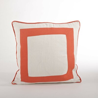 Crete Banded Design Down Filled Throw Pillow Color: Tangerine