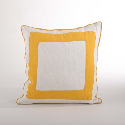 Crete Banded Design Down Filled Throw Pillow Color: Yellow