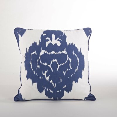 Odessa Damask Design Down Filled Throw Pillow Color: Cobalt Blue