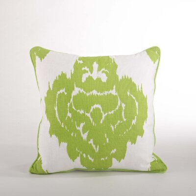 Odessa Damask Design Down Filled Throw Pillow Color: Lime