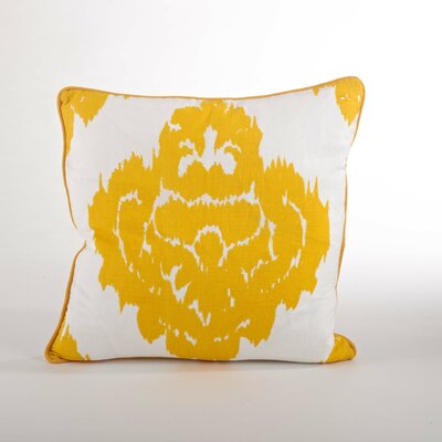 Odessa Damask Design Down Filled Throw Pillow Color: Saffron
