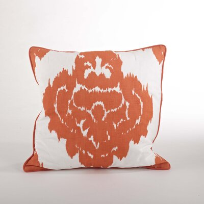 Odessa Damask Design Down Filled Throw Pillow Color: Tangerine