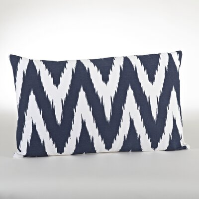 Bali Chevron Design Down Filled Throw Pillow Color: Navy Blue