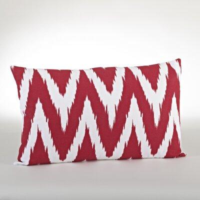Bali Chevron Design Down Filled Throw Pillow Color: Red