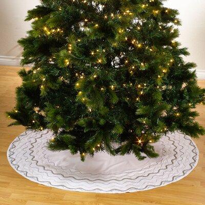 Sparkling Holiday Hand Beaded Christmas Tree Skirt