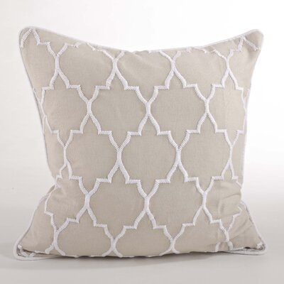 Malaga Moroccan Design Throw Pillow Color: Linen