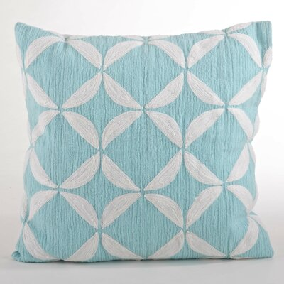 Ayla Crewel Work Design Throw Pillow Color: Aqua