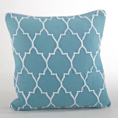 Malaga Moroccan Design Throw Pillow Color: Aqua