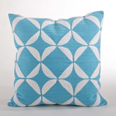 Ayla Crewel Work Design Throw Pillow Color: Turquoise