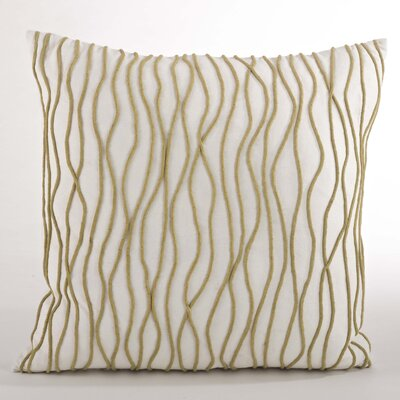 Wavy Line Chartreuse Design Cotton Throw Pillow Color: Chartreuse