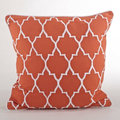 Malaga Moroccan Design Throw Pillow Color: Tangerine
