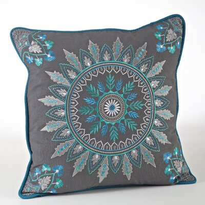 Nirmala Embroidered Geo Design Throw Pillow