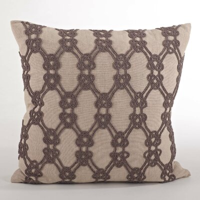 Ganda Beaded Knotted Design Throw Pillow Color: Chocolate