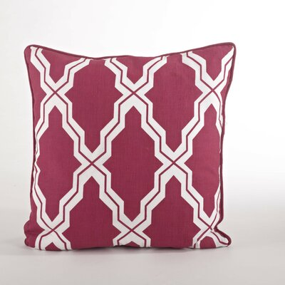 Yasmina Moroccan Design Down Filled Throw Pillow Color: Raspberry