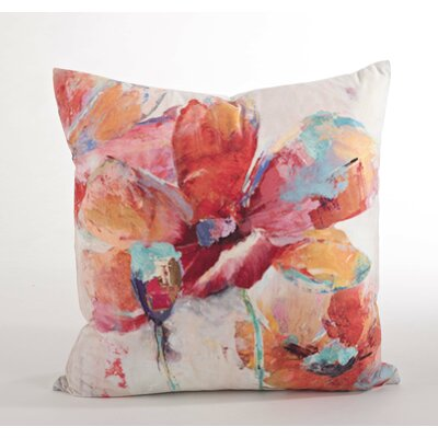 Flower Market Floral Design Throw Pillow